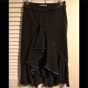 Zara Black Jeans Skirt Price Dropped.